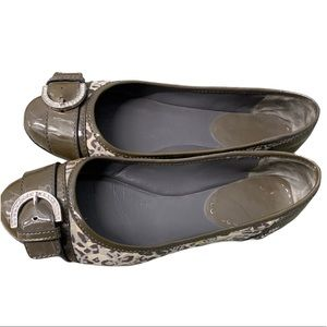 Coach Remmi brown buckle leather flats size 7.5